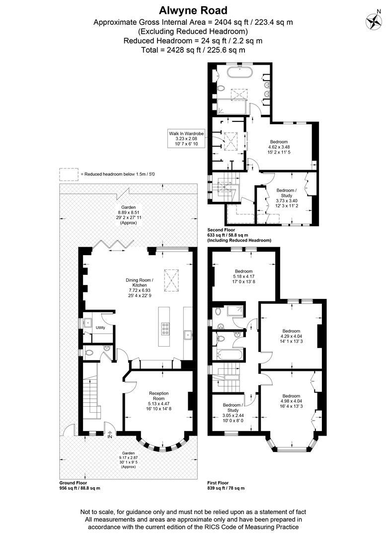 Floorplan for Alwyne Road, Wimbledon